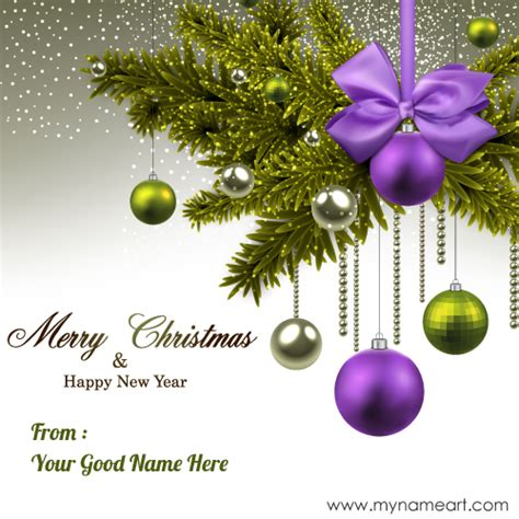 write   merry christmas  happy  year card