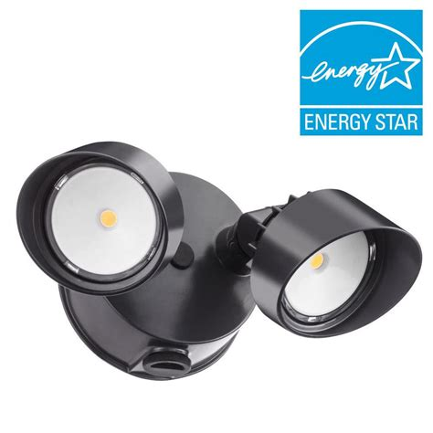 led dusk to dawn light all pro revolve 270 degree bronze outdoor motion activated