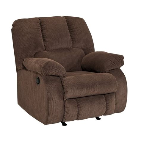 fabric rocker recliner ashley roan fabric rocker recliner in cocoa 3860425