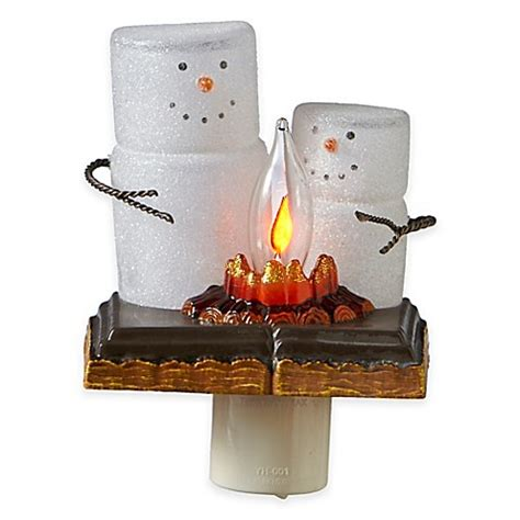 bed bath and beyond christmas lights s mores flicker night light bed bath beyond