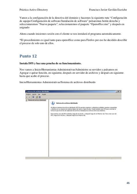 procedimiento de configuracin para firefox 45 diangovco practica 2003 server acitve directory fran gavilan