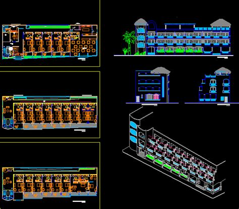 hotel tulum mexico dwg plan  autocad designs cad