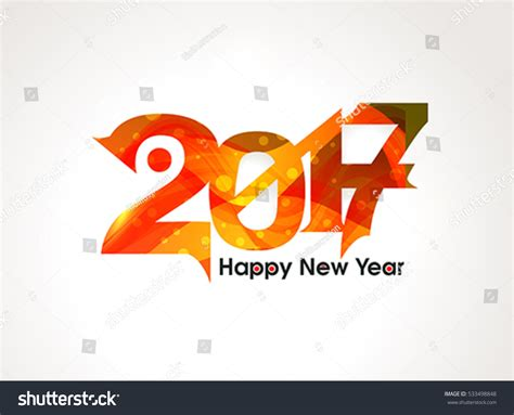 happy new year text vector abstract happy new year text background stock vector