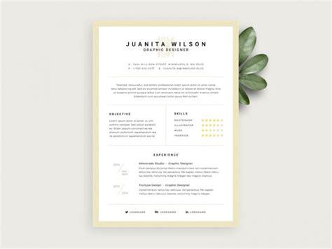 simple resume template psd simple resume template free psd psd