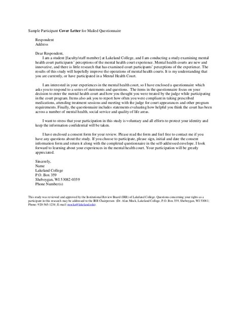 Permission Letter To Conduct Questionnaire Sle Cover Letter And Informed Consent