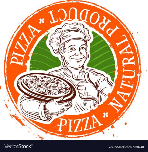 Pizza Logo Design Template Cooking Royalty Free Vector Image Pizza Logo Design Template