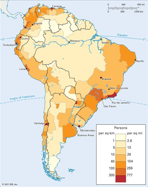 population map of south america south america population density encyclopedia
