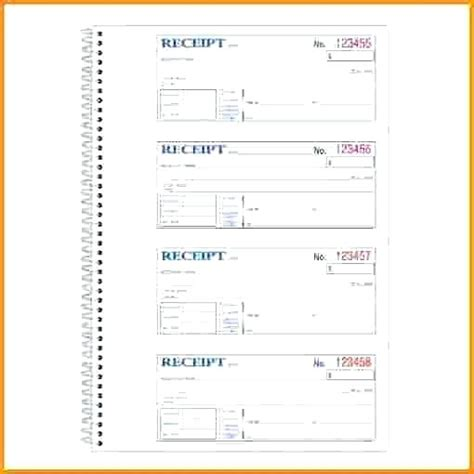 Fill In Receipt Template by How To Fill Out A Receipt Book Viqoo Club