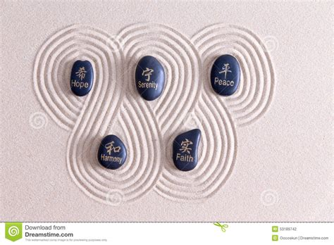 pattern language zen view zen art with stones on golden sand stock photo image