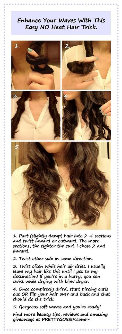 style hsir with no heat how to have curly hair without heat