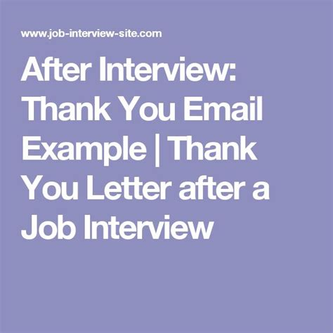 best ideas of thank you email after job interview 8 free sample