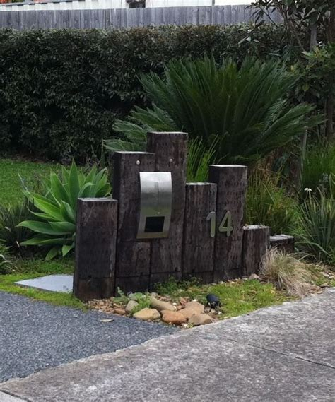 Retaining Wall Front Yard - 88 best images about letterboxes on pinterest reclaimed railway sleepers railway sleepers and