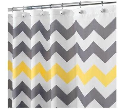gray and yellow chevron shower curtain chevron gray yellow shower curtain