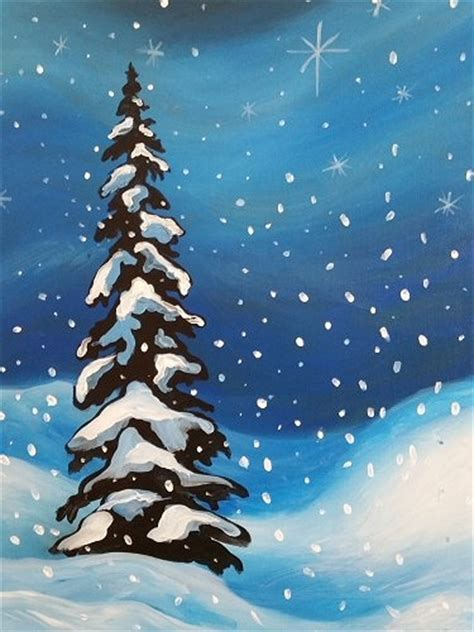 paint with a twist winter paint nite winter s sparkle