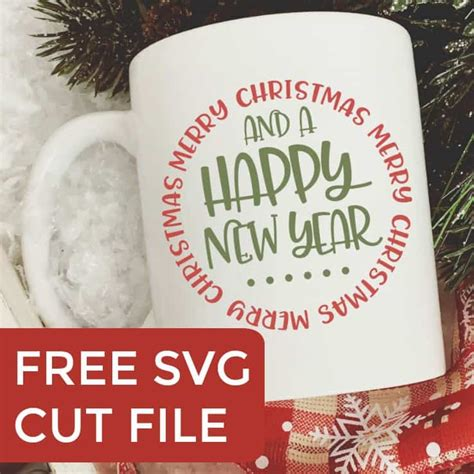 merry christmas happy  year svg cut file cutting  business