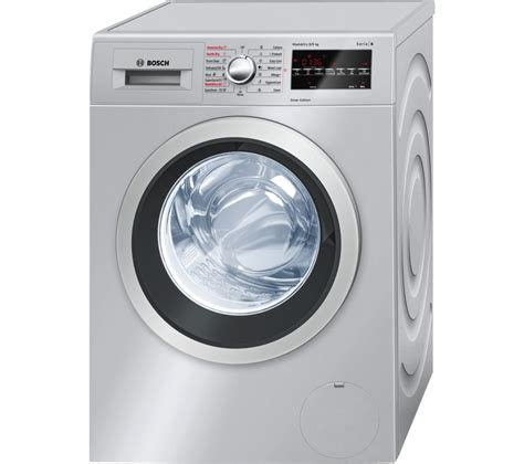 bosch washer dryer buy bosch serie 6 wvg3046sgb washer dryer silver free delivery currys