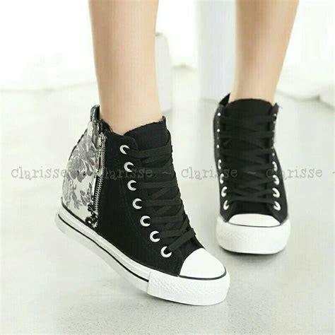 Sepatu Kets Hitam As341 jual beli sepatu sandal wanita sepatu kets boots