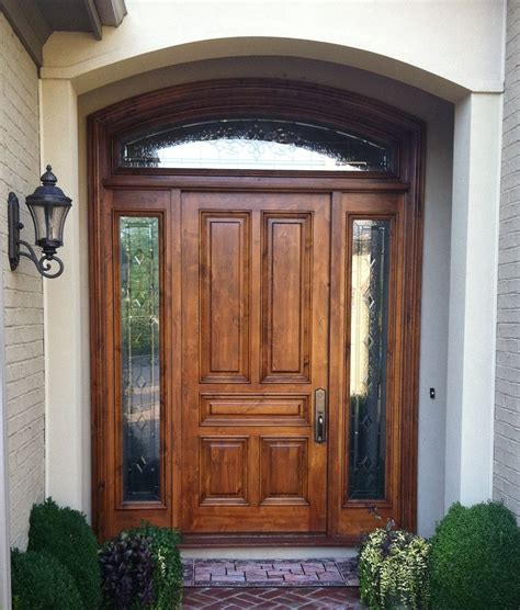 Home Design Wooden Front Doors With Glass Uk For Wood Front Exterior Doors For Homes