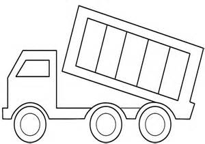 printable coloring pages trucks printable dump truck