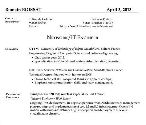 Networking Engineer Resume Pdf by Network Engineer Resume Pdf Free Sles Exles