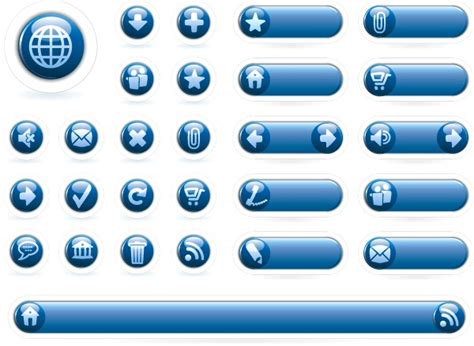 web design icon navigation blue navigation icon button vector web design crystal