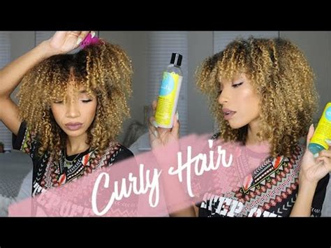 raven elyse short hair curly hair routine wash n go ft blueberry bliss