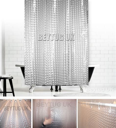 x long shower curtain new transparent 3d peva mosaic bath shower curtain extra