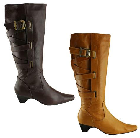 orizonte roberto womens leather knee high boots