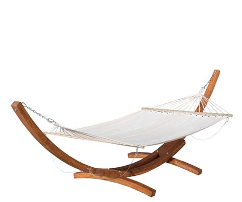 Modern Contemporary Armchair Weston Larch Wood Amp Canvas Hammock W Stand Tropical