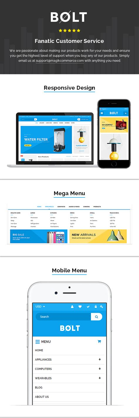 Bolt Electronics Store Shopify Theme Template By Magikcommerce Shopify Mobile Template