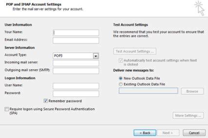 microsoft outlook: set up your suddenlink email   help desk
