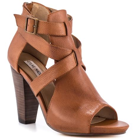 steve madden spriing cognac leather shoes for aemow