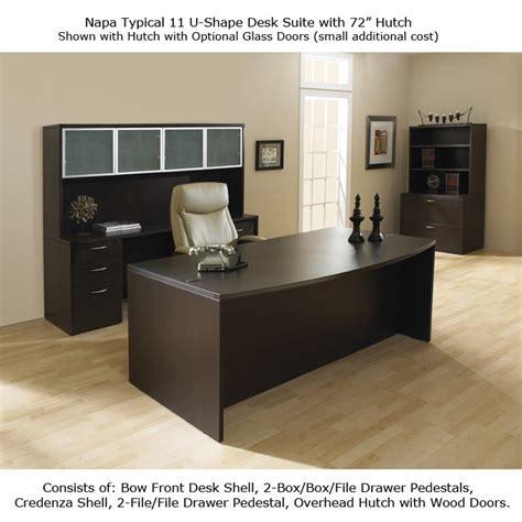 executive office suite desk hutch credenza espresso