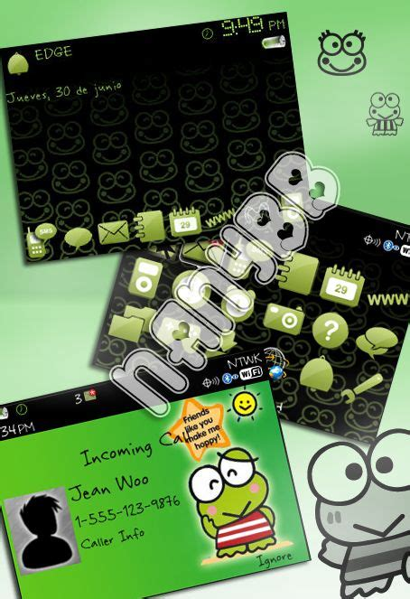 themes keroppi bb tema de keroppi para blackberry 8520 8530 9300 9330 os