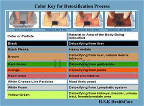 Foot Detox Island by Ionic Foot Bath Color Chart 28 Images Beachside