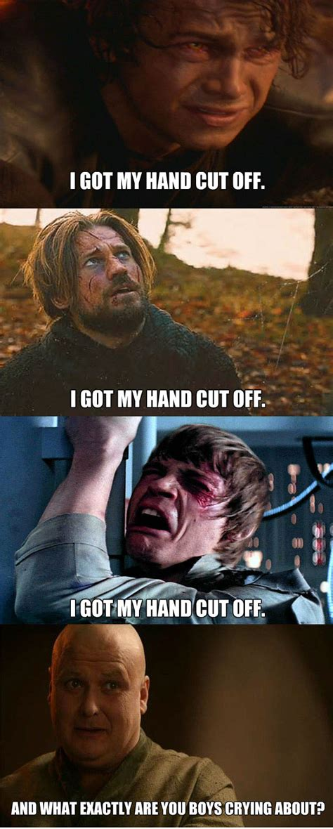Star Wars Game Of Thrones Meme - star wars vs game of thrones le clash en memes images