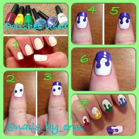 tutorial nail art pita drip nail art tutorial my nail tutorials pinterest