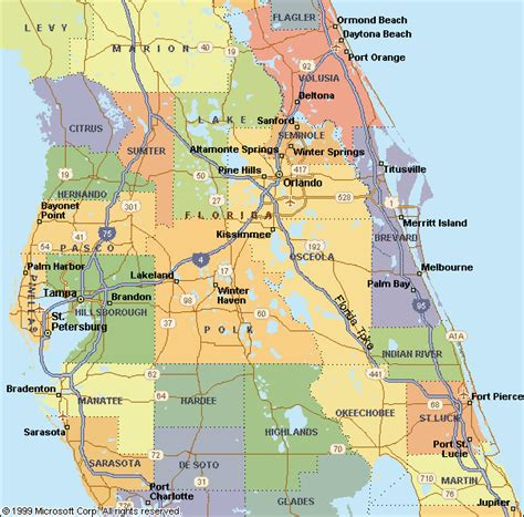 central florida map of central florida my