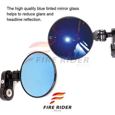 Spion Tomok Cnc Blue Mirror xp cnc bar end mirrors blue tinted for zx10r 06 14 12 ebay