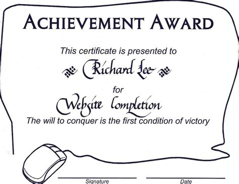 achievement award certificate template achievement award wording fiveoutsiders