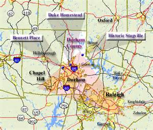 durham carolina map durham county map