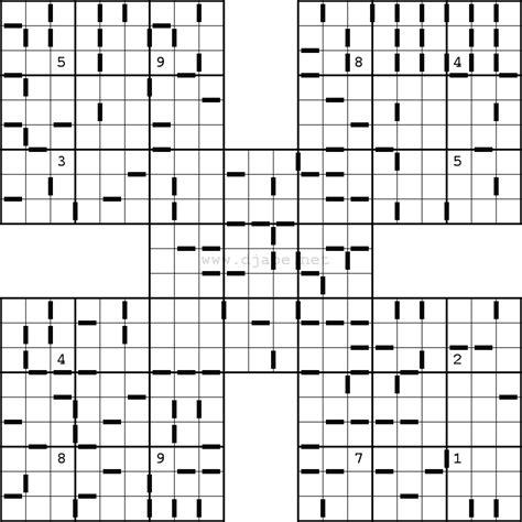 printable triple sudoku samurai sudoku difficult pictures to pin on pinterest