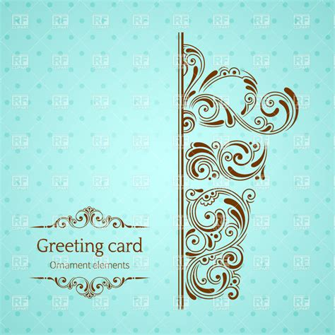 card templates royalty free turquoise vintage greeting card template with ornamental