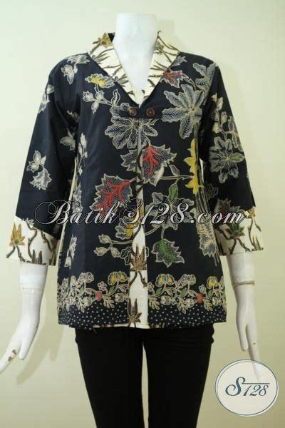 Celana Hitam Buat Kerja blus batik hitam kombinasi proses kombinasi tulis