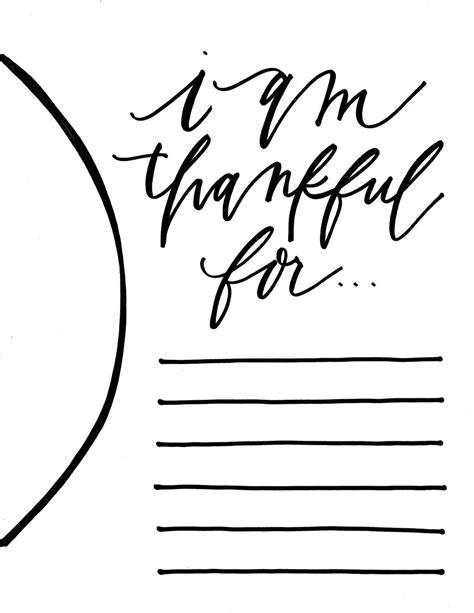 Thankful Template 6 best images of i am thankful for placemat printable i