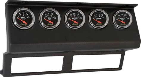 jeep wrangler yj dashboard auto meter 7040 dash panel with gauges for 87 95 jeep