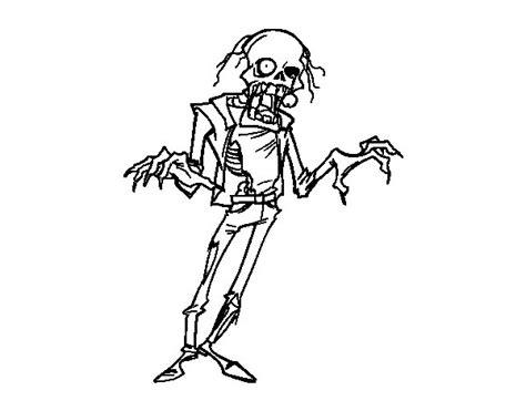 imagenes de zombies para halloween para niños dibujo de zombie horripilante para colorear dibujos net