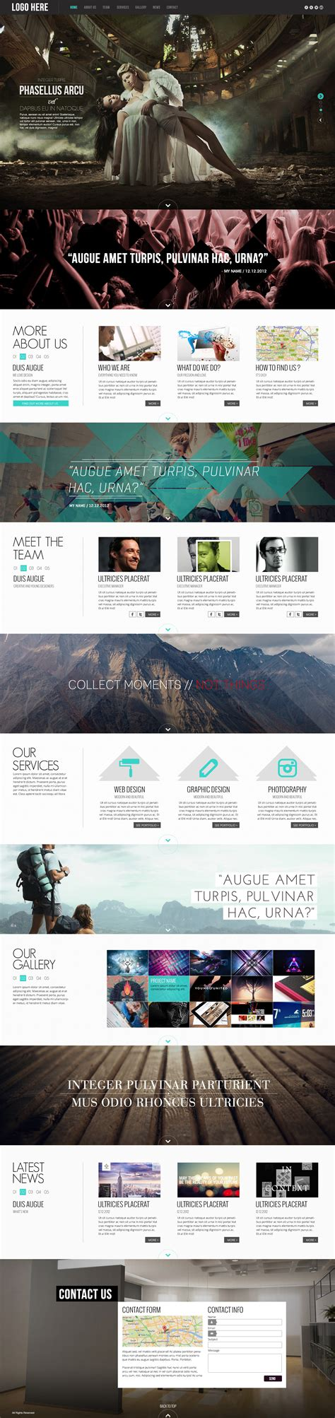 Pulsar One Page Html5 Parallax Website Template By Avathemes Themeforest Parallax Website Template