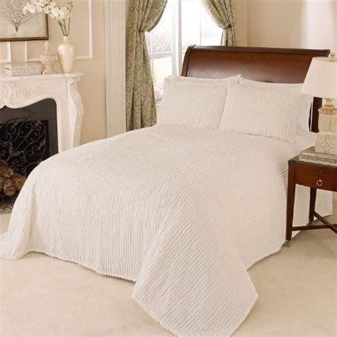 beatrice home fashions channel chenille bedspreads queen ivory a luxury bed silk sheets