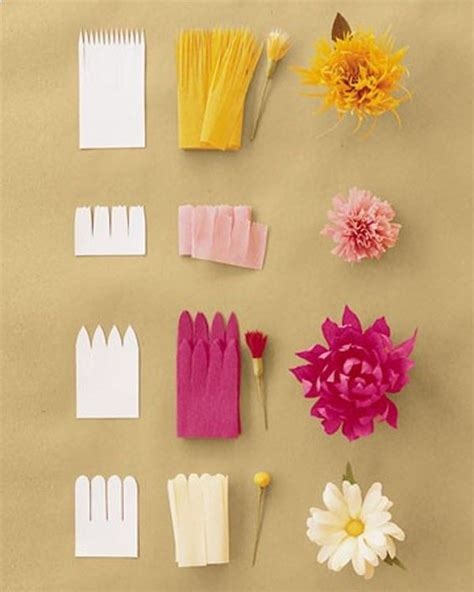 Crafting Paper Flowers - tissue paper flower craft ideas